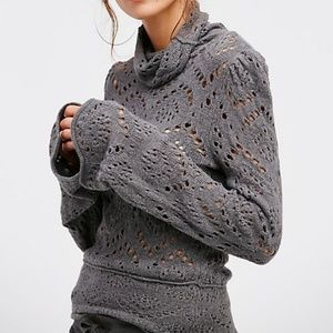 Free People Shoot From the Heart Pullover Sweater